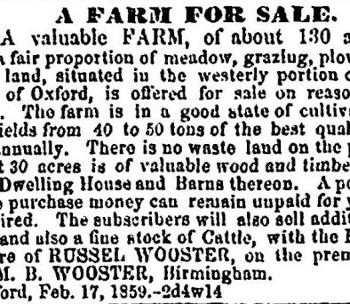 Oxford Farm for Sale offer acceptance